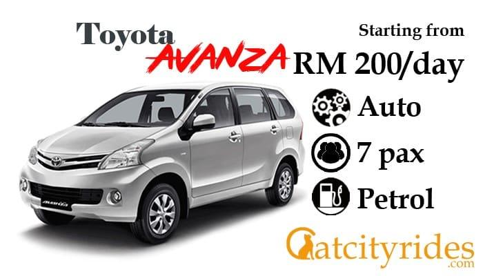 Kuching_car_rental_kereta_sewa_kuching_Catcityrides_Avanza