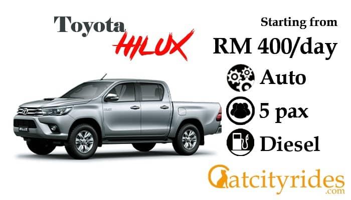Kuching_car_rental_kereta_sewa_kuching_Catcityrides_Hilux